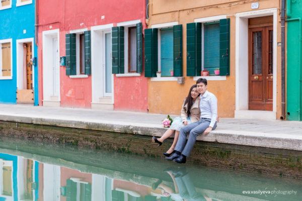 photo shoot on Burano