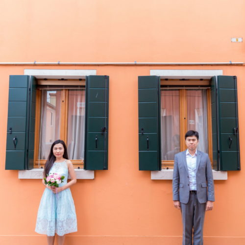 photo shoot on Burano