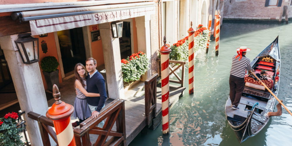 proposal photo in venice