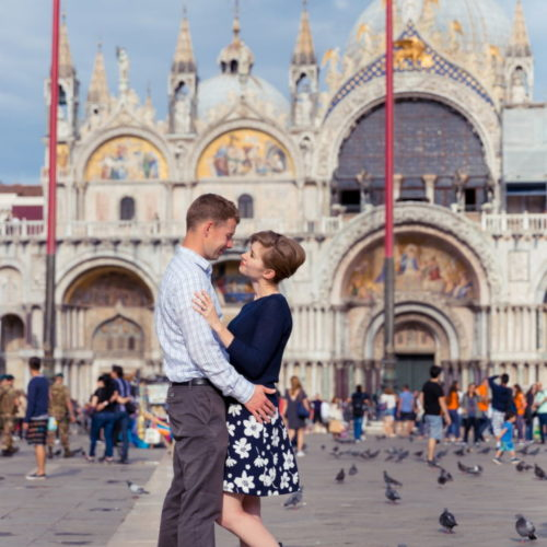 Wedding anniversary in venice