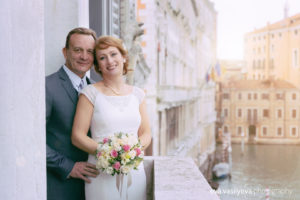 Vow renewal ceremony in Venice