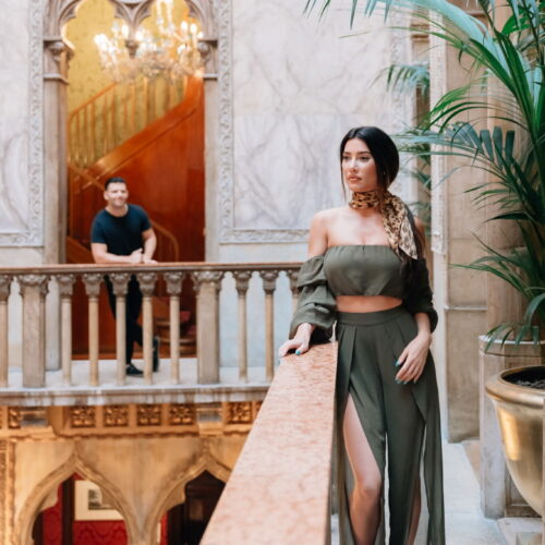 Romantic photo shoot of actress Jacqueline MacInnes Wood and Elan Ruspoli in Venice - Eva Vasilyeva photography